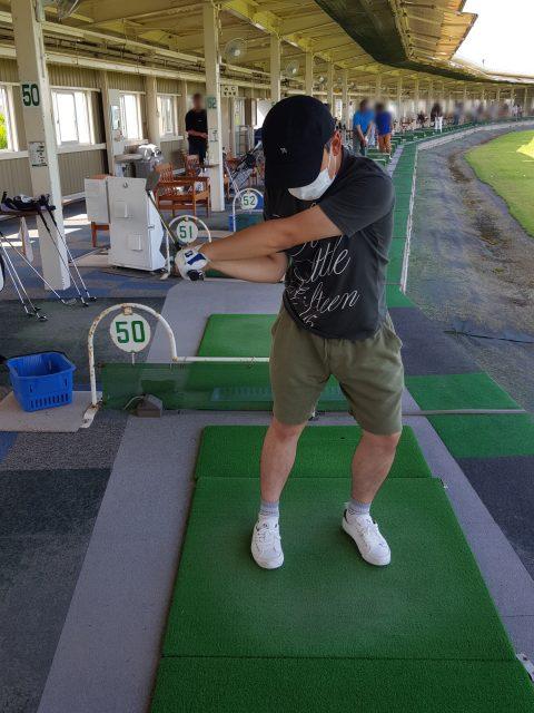 ゴルフ掌屈切り返し
