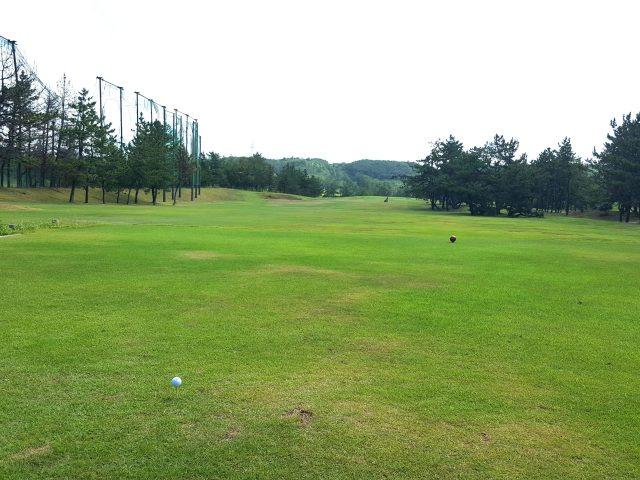 柏崎シーサイドゴルフクラブ1Hフェアウェイ